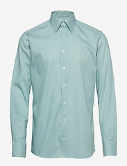 Eton - Striped Natural Stretch Shirt - chemises business - green - 0