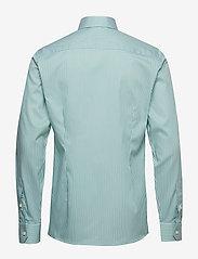 Eton - Striped Natural Stretch Shirt - chemises business - green - 1