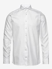 Eton - White twill shirt - soft - peruspaitoja - white - 0