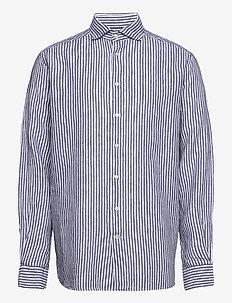 Contemporary fit Business Casual Linen Shirt - oxford-hemden - blue