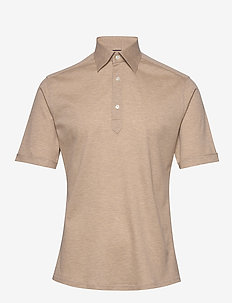 Blue Polo Short Sleeve Popover Shirt - krótki rękaw - offwhite/brown