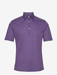 Blue Polo Short Sleeve Popover Shirt - korte mouwen - purple