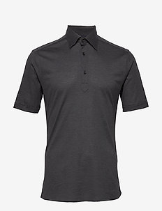 Blue Polo Short Sleeve Popover Shirt - krótki rękaw - grey