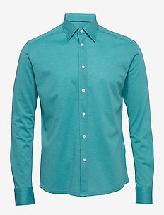 Polo shirt - long sleeved - basic shirts - blue