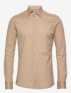 Polo shirt - long sleeved - basic skjortor - offwhite/brown