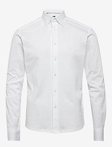 Polo shirt - long sleeved - basic skjortor - white
