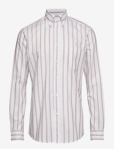 Red Striped Short Sleeve Shirt - PINK/RED