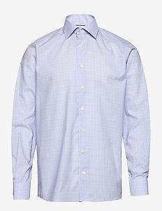 Blue twill shirt - ruutupaidat - purple