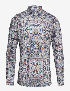 Ancient Paisley Print Twill Shirt - PINK/RED
