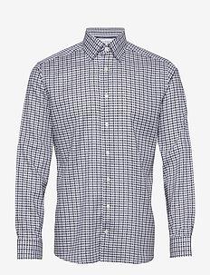 Blue & Navy Overcheck Flannel Shirt - koszule w kratkę - blue