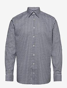 Blue & Navy Overcheck Flannel Shirt - ruutupaidat - blue