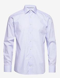 Geometric Poplin Shirt - BLUE