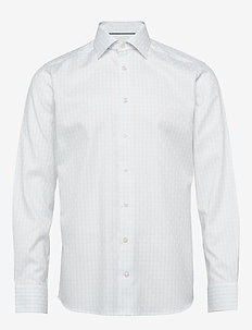 Checked Dobby Shirt - BLUE
