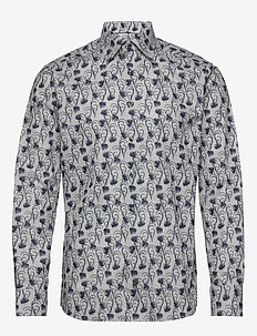 Grey Floral Flannel Shirt - GREY