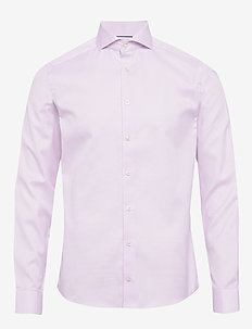 Melange Micro Weave Shirt - PURPLE