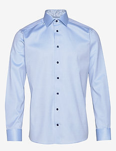 Twill Shirt – Geometric Details - BLUE