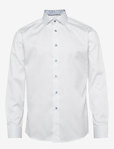 Twill Shirt – Geometric Details - WHITE
