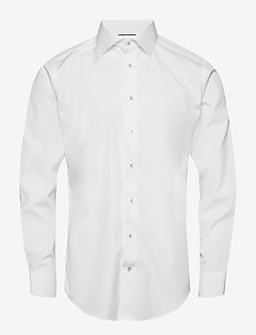White twill shirt - basic shirts - white