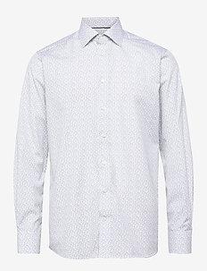 Floral Poplin Shirt - Contemporary fit - business-hemden - white