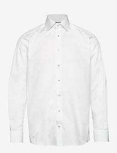White twill shirt - basic skjorter - white