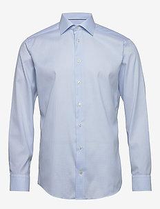 Light blue micro woven shirt - biznesowa - light blue