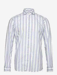 Two-blue striped shirt - soft - casual shirts - white