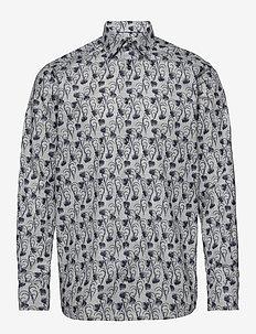 Floral Flannel Shirt - GREY