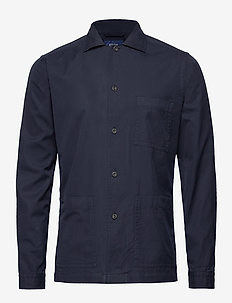 3-pocket overshirt - basic overhemden - blue