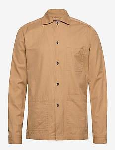 3-pocket overshirt - OFFWHITE/BROWN