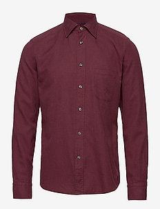 Flannel Button-Under Collar Shirt - PINK/RED
