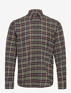 Contemporary  fit Casual Flannel Shirt - rutiga skjortor - green