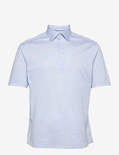 Slim Fit Short sleeved popover shirt - kortærmede - blue