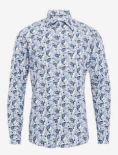 Paisley poplin shirt - BLUE