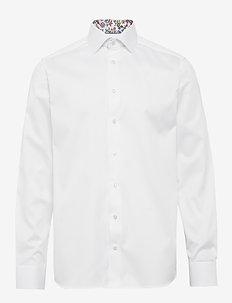 Twill shirt - flower details - basic shirts - white