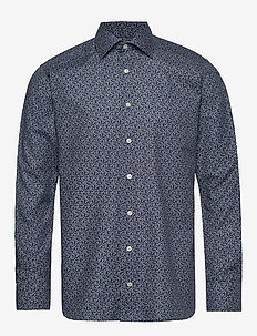 Flannel floral print shirt - casual shirts - navy