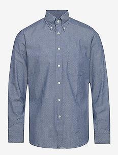 Pin dot indigo shirt - casual shirts - navy