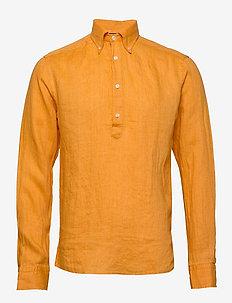 Luxe linen popover shirt - YELLOW/ORANGE