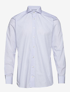 Checks poplin shirt - checkered shirts - blue