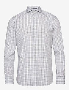 Checks poplin shirt - checkered shirts - navy