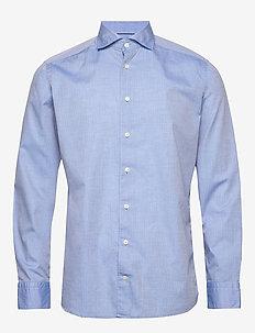 Lustre dotted dobby shirt - soft - basic shirts - blue