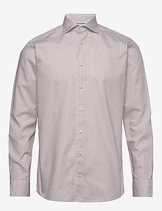 Twill shirt - biznesowa - offwhite/brown