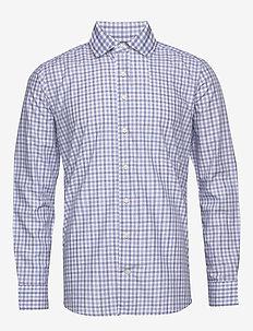Grey twill shirt - checkered shirts - grey