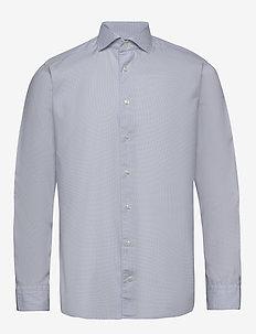 Grey twill shirt - basic shirts - grey