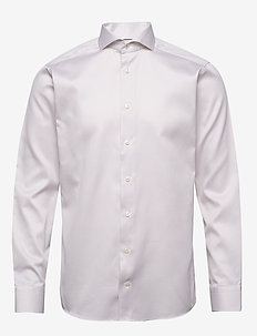 Diamond weave shirt - chemises basiques - offwhite/brown