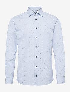 Slim fit Blue Signature Twill shirt - business-hemden - blue