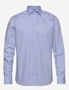 Blue & white checked shirt - koszule w kratkę - blue