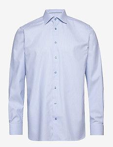 Blue woven checks shirt - chemises à carreaux - blue