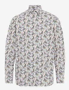 Paisley poplin shirt - GREEN