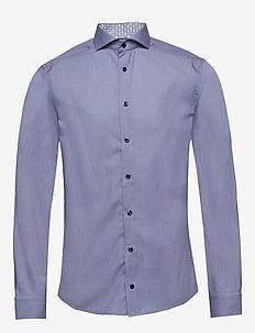 Hairline striped shirt – details - basic shirts - blue