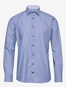 Multi paisley poplin shirt - BLUE